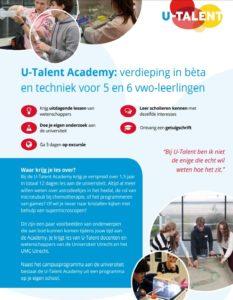 U-Talent Academy Flyer